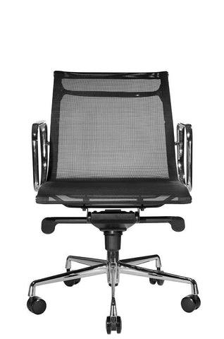 Reed Mesh Lowback Chair (Black)