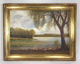 1931 Impressionist Oil Painting Landscape Signed Williamson