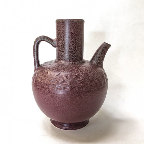 Mint 1923 Rookwood Pitcher Ewer American Art Pottery Matte Burgundy Gray