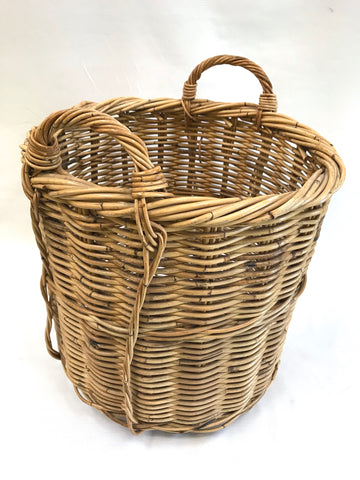 "18.5"" diameter wicker cache basket"