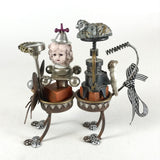 "Original Steampunk Assemblage ""Cat Call"" by Beverly Holman"