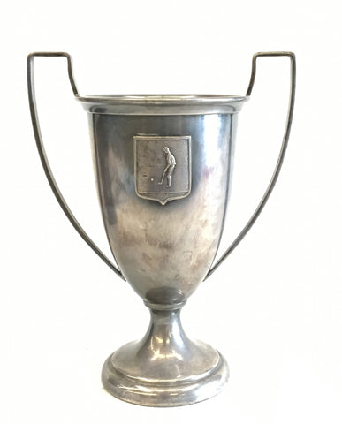 Vintage Golf trophy loving cup with crest.  The Mart Collective Venice Los Angeles, CA.