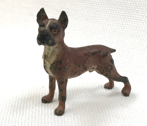 1900 Vienna Bronze Boxer Dog