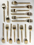 1960's Stanley Roberts Tiburon Gold Plated Flatware - 8 Place Settings