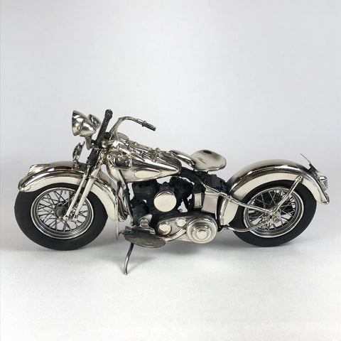 Realistic Italian Sterling Silver Model 1940 Indian Scout Motorcycle