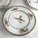 French Bird of Paradise Dessert Plates by William Guerin & Co. in Limoges - Set of 6
