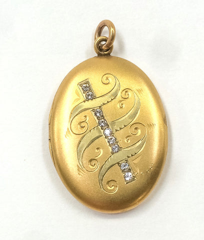 Antique oval gold filled locket.  The Mart Collective Venice Los Angeles, CA.