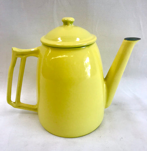 Vintage Decoware Yellow Enamel Coffee or Tea Pot from Belgium
