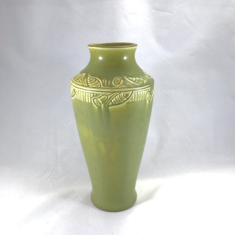 1920 Rookwood green matte art pottery vase at The Mart Collective