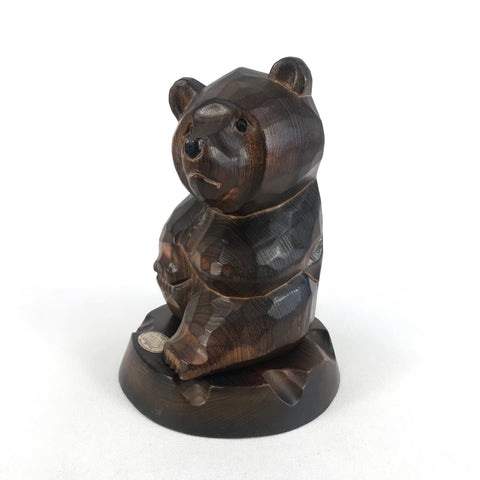 Tomiya Original 2 Piece Wood Bear Sculpture