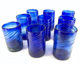 Vintage Hand Blown Cobalt Glass Tumblers - Sold Individually