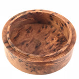 Vintage Small Round Burl Wood Box with Lid