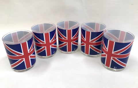 Set of 1960's Cera Union Jack Bar Glasses