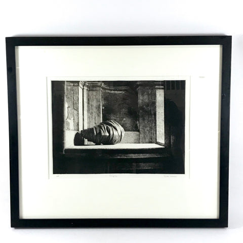 "Contemporary Framed Etching ""Enigma"" Artist Proof by Dodie Warren"