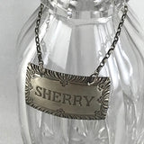 Sterling Sherry Liquor Bottle Tag - Vintage