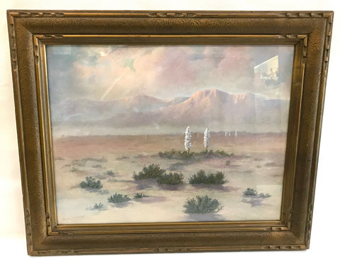 Early 20th Century California Sonoran Desert Pastel Landscape by Morton McElroy