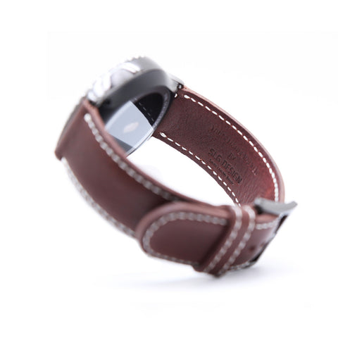 D6 Italian Minerva Box Leather Strap for Gear S2 Brown