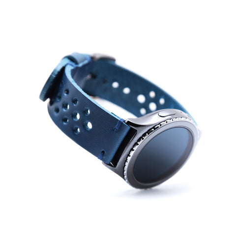 D7 Italian Buttero Leather Strap for Gear S2 Blue