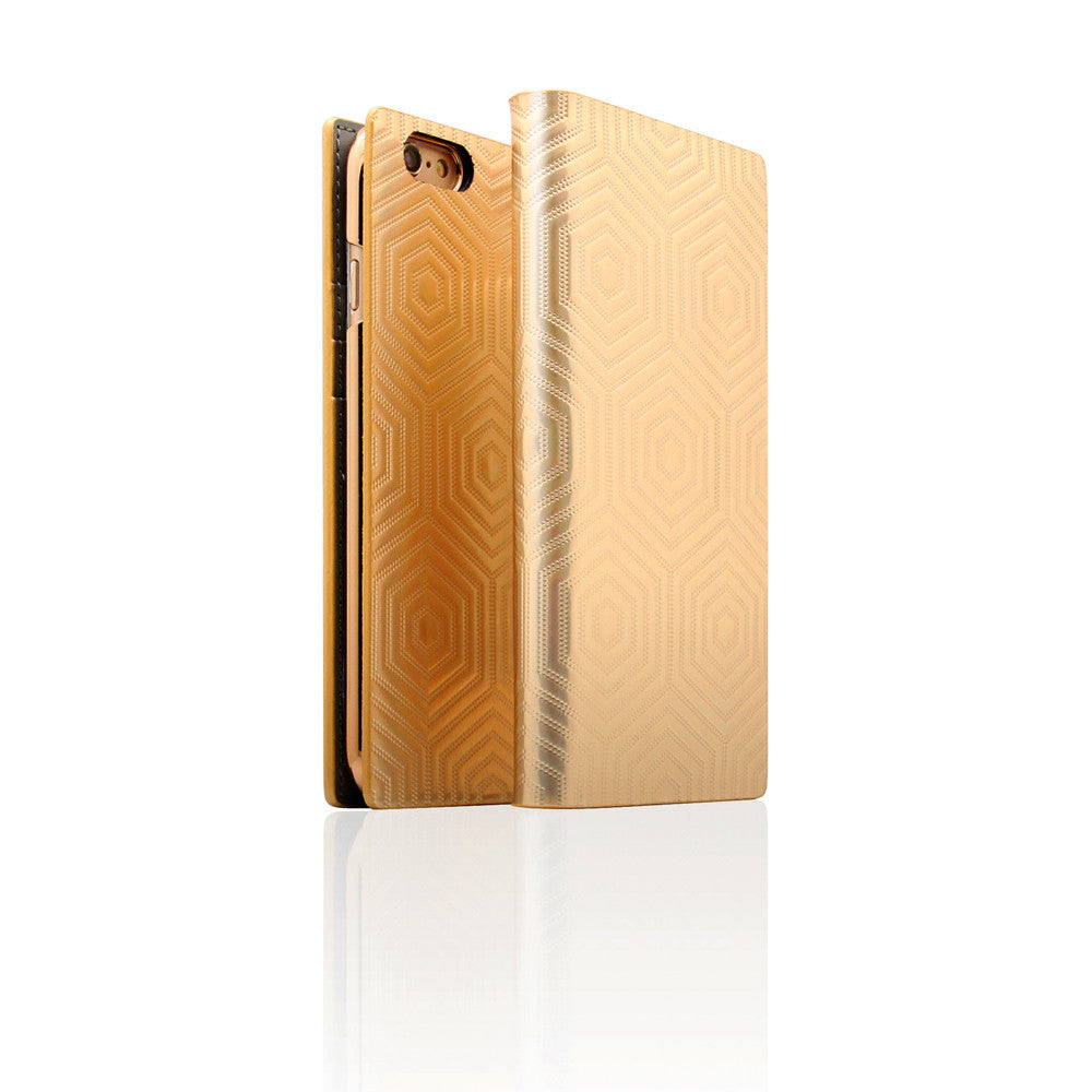 D4 Metal Hologram for iPhone 6 / 6s Plus Gold