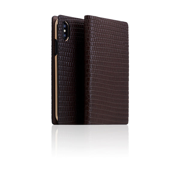 D3 Italian Lizard Leather Case for iPhone X Brown