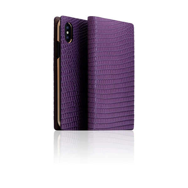 D3 Italian Lizard Leather Case for iPhone X Purple