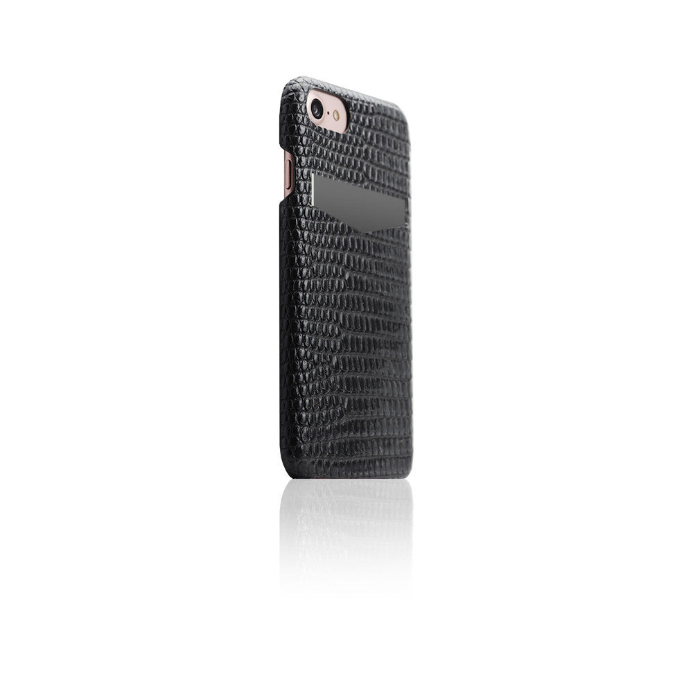 D3 Italian Lizard Leather Back Case for iPhone 8 / 7 Black