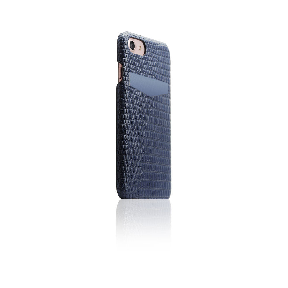 D3 Italian Lizard Leather Back Case for iPhone 8 / 7 Blue