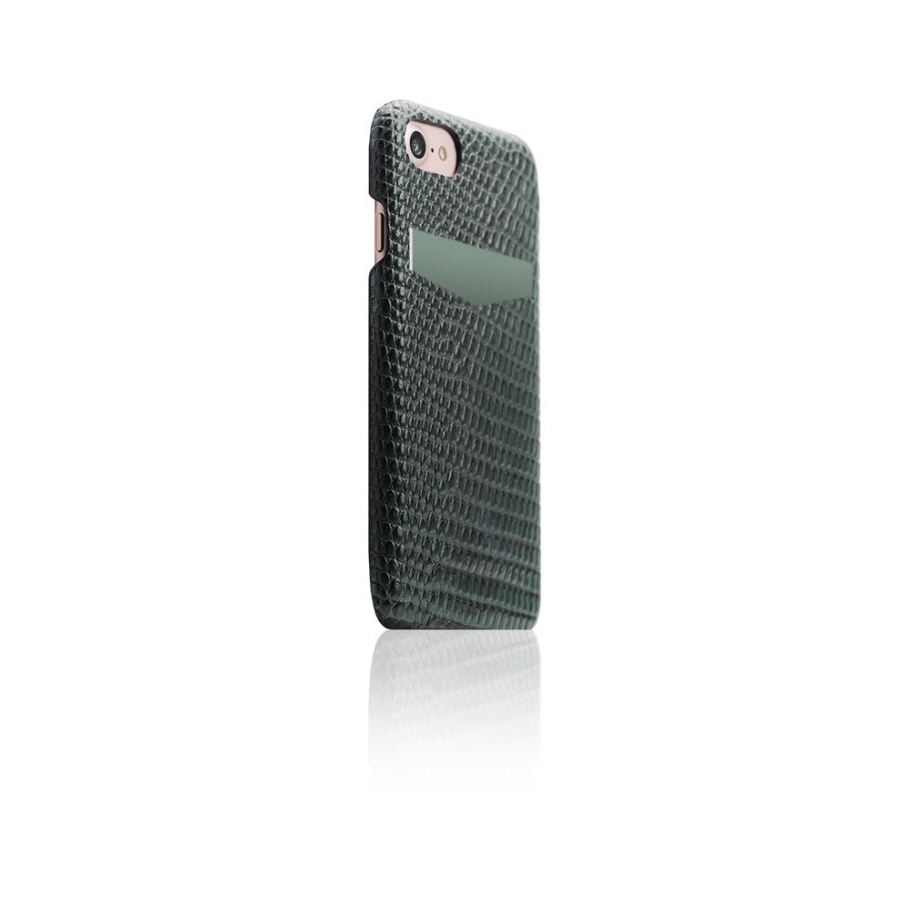 D3 Italian Lizard Leather Back Case for iPhone 8 / 7 Green