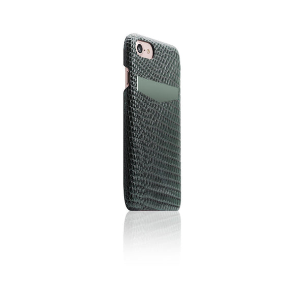 D3 Italian Lizard Leather Back Case for iPhone 7 Green