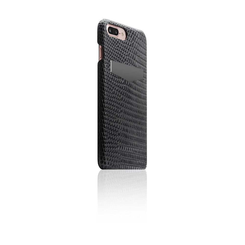 D3 Italian Lizard Leather Back Case for iPhone 8 / 7 Plus Black