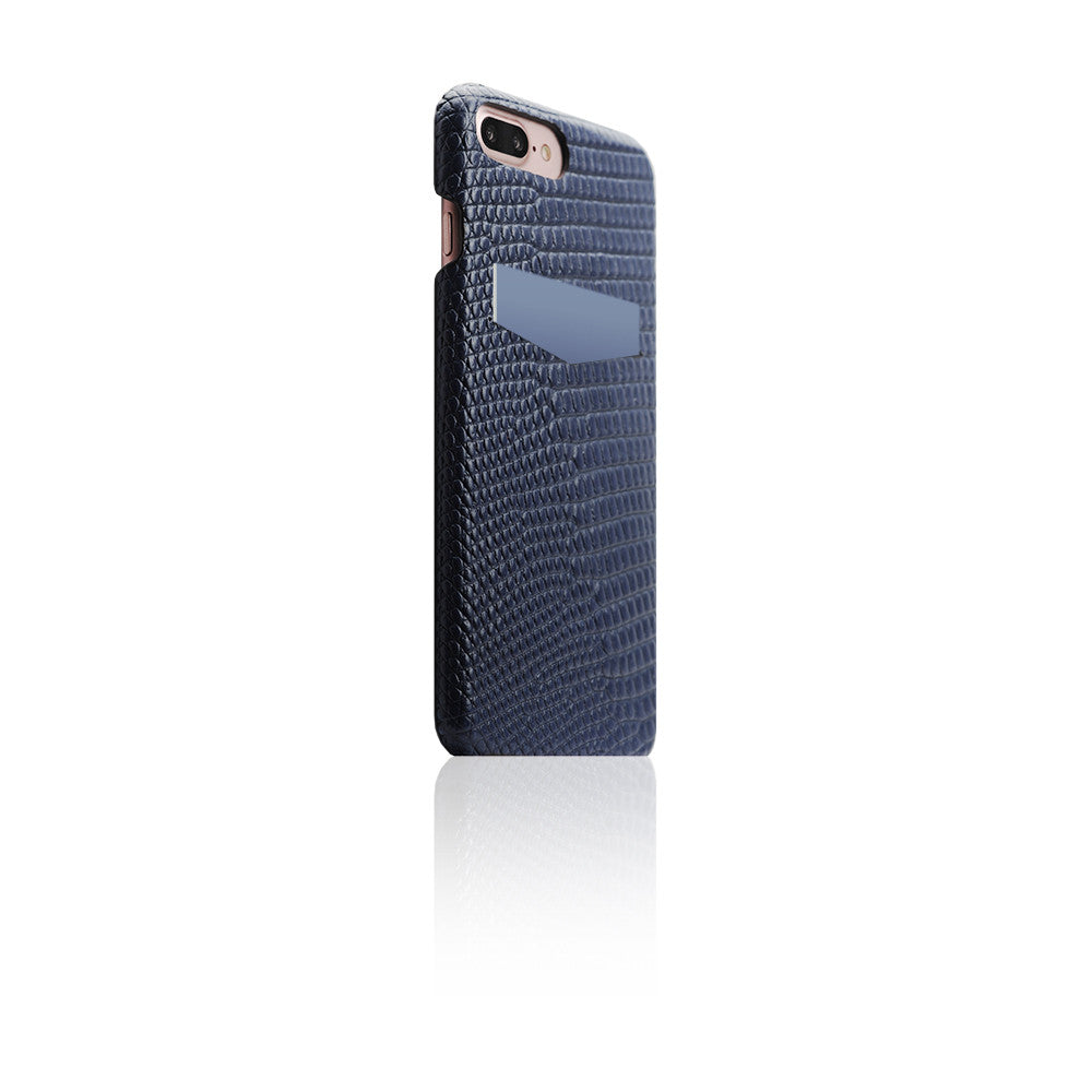 D3 Italian Lizard Leather Back Case for iPhone 8 Plus / 7 Plus Blue
