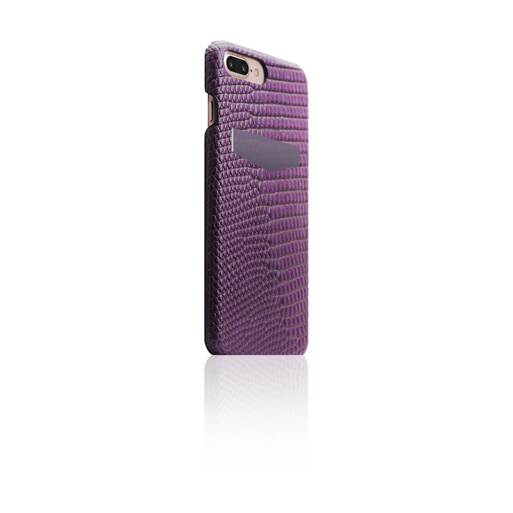 D3 Italian Lizard Leather Back Case for iPhone 8 Plus / 7 Plus (Purple)