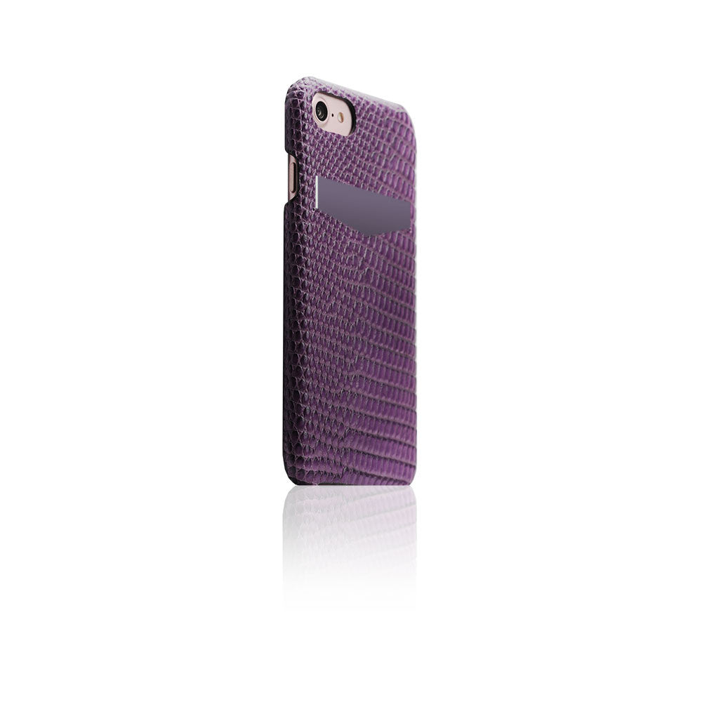 D3 Italian Lizard Leather Back Case for iPhone 7 Purple