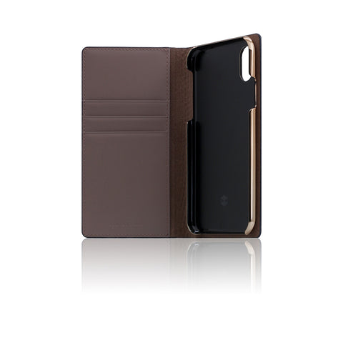 D3 Italian Lizard Leather Case for iPhone X Black