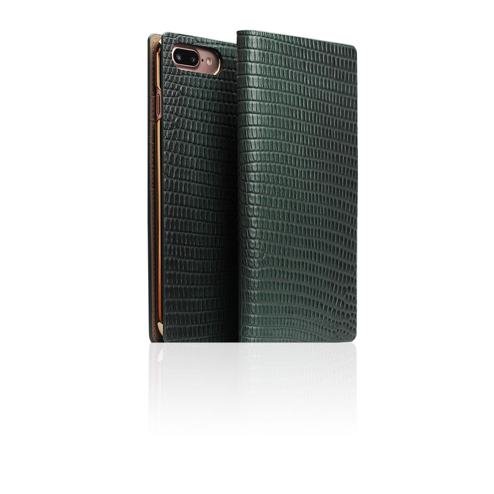 D3 Italian Lizard Leather Case for iPhone 8 / 7 Plus Green