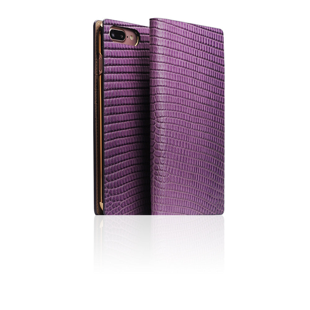 D3 Italian Lizard Leather Case for iPhone 8 / 7 Plus Purple
