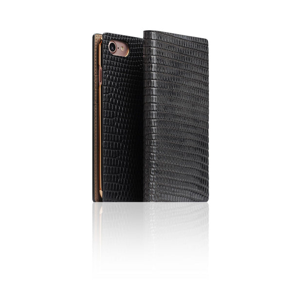 D3 Italian Lizard Leather Case for iPhone 7 Black