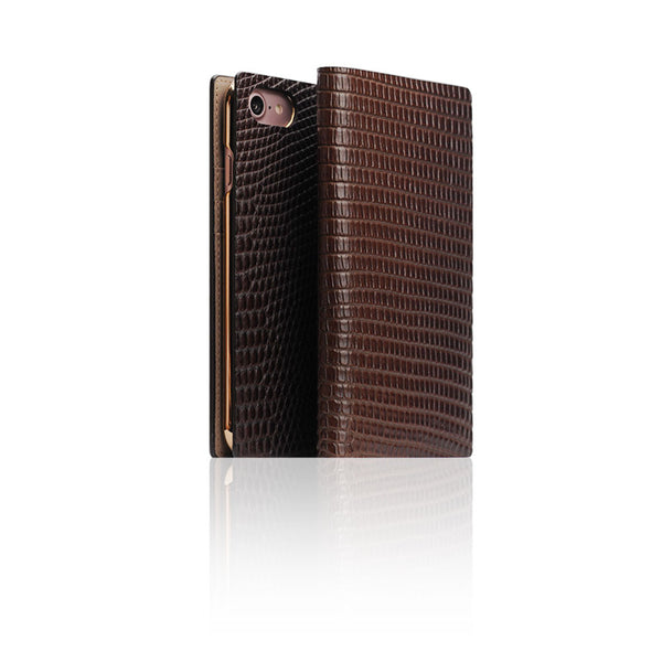 D3 Italian Lizard Leather Case for iPhone 7 Brown