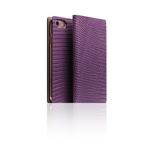 D3 Italian Lizard Leather Case for iPhone 7 Purple
