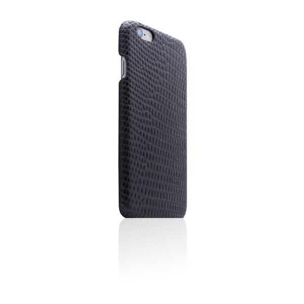 D3 Italian Lizard Leather Back Case for iPhone 6/6s Black