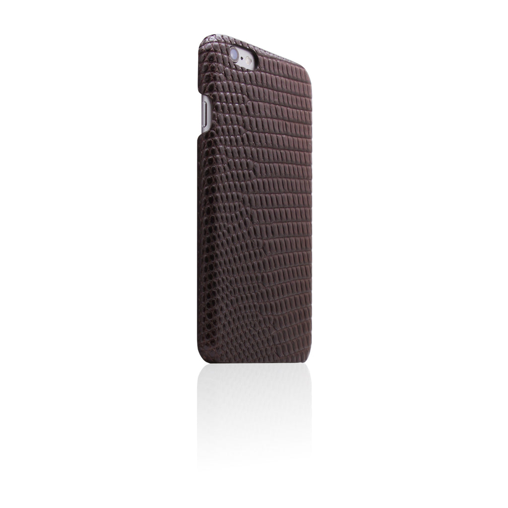 D3 Italian Lizard Leather Back Case for iPhone 6 / 6s Brown