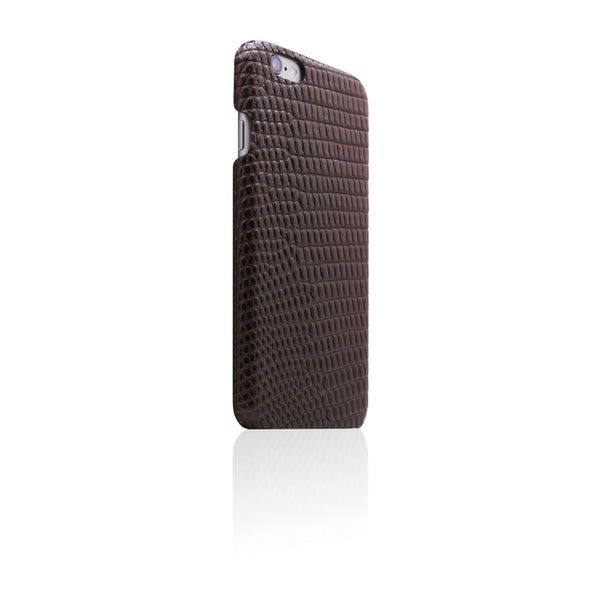 D3 Italian Lizard Leather Back Case for iPhone 6/6s Brown