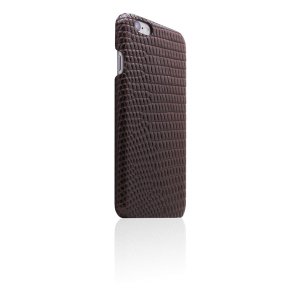 D3 Italian Lizard Leather Back Case for iPhone 6/6s Plus Brown