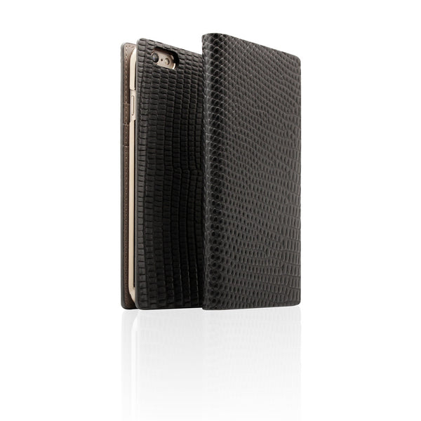D3 Italian Lizard Leather Case for iPhone 6 / 6s Black