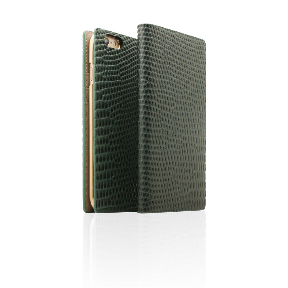 D3 Italian Lizard Leather Case for iPhone 6/6s Green