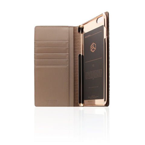 D3 Italian Lizard Leather Case for iPhone 6/6s Plus Brown