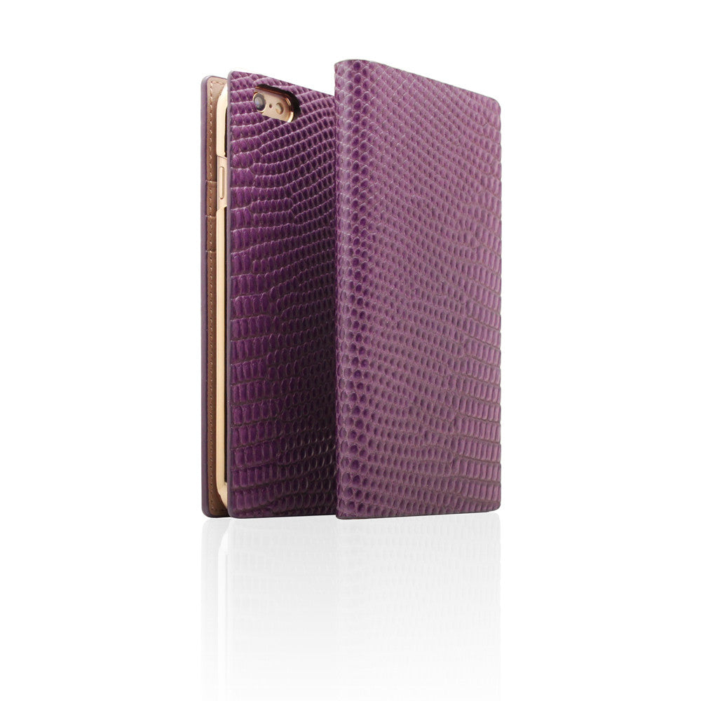 D3 Italian Lizard Leather Case for iPhone 6 / 6s Plus Purple