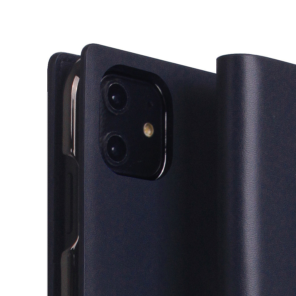 D5 Calf Skin Leather Case for iPhone 11 Navy