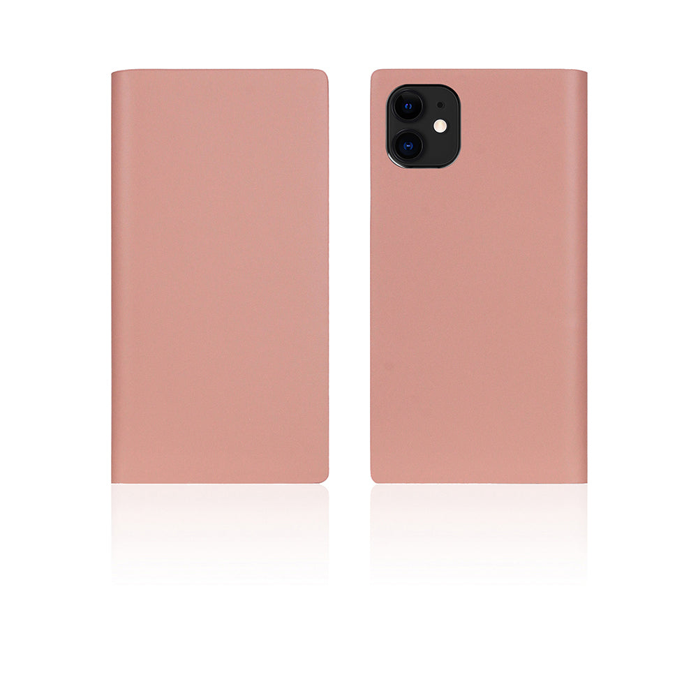 D5 Calf Skin Leather Case for iPhone 11 Baby Pink