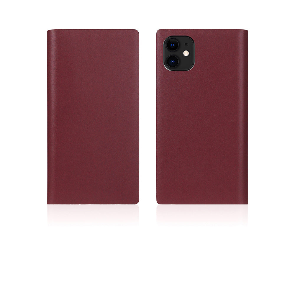 D5 Calf Skin Leather Case for iPhone 11 Burgundy